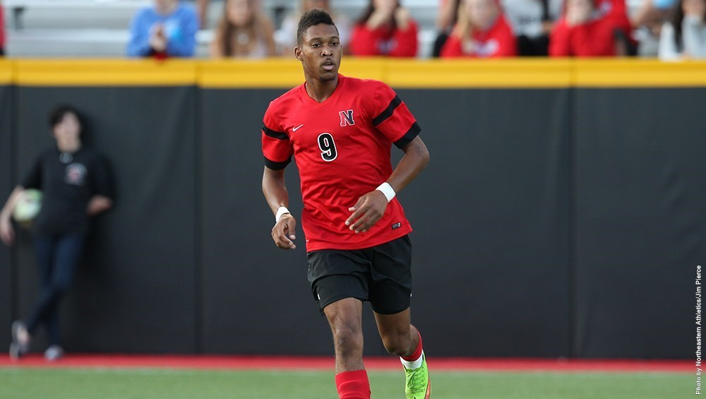 Senior striker Khesanio Hall scored in double overtime on Friday to give NU a 1-0 victory over Saint Joseph's (Image Credit: The Huntington News)
