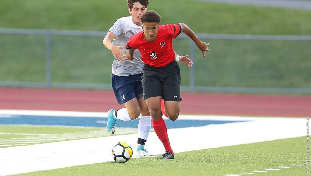 Defender Dante Morrissette was one of 7 NU freshman to make their first appearance on Monday at New Hampshire. (Image Credit: GoNU)